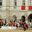 Lors du Trooping the Colour, célébration de l'anniversaire de la reine Elizabeth II, à Londres le 11 juin 2011