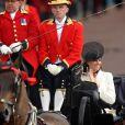 La princesse Catherine Middleton lors du Trooping the Colour, célébration de l'anniversaire de la reine Elizabeth II, à Londres le 11 juin 2011