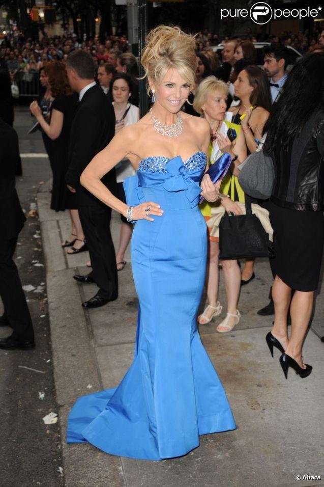 Christie Brinkley lors de la 65e cérémonie des Tony Awards qui s'est tenue au Jewish Community Center de New York, le 12 juin 2011.