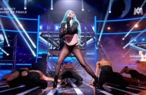Lady Gaga dans X Factor : Une petite fessée et puis s'en va