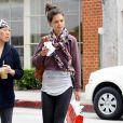 Katie Holmes se fait une silhouette de rêve en faisant régulièrement de la gym. Beverly Hills, le 14 juin 2011