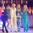 Jennifer Lopez, Cameron Diaz, Thomas Gottschalk, Heidi Klum et Michelle Hunziker pour la dernière émission Wetten Dass... à Majorque en Espagne, le 18 juin 2011