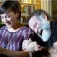 Robin Williams et sa fille Zelda durant le tournage de la pub pour le jeu Zelda, Ocarina of Time 3D