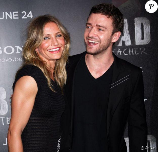 Justin Timberlake et Cameron Diaz lors de l'avant-première de Bad Teacher, à New York, le 20 juin 2011.