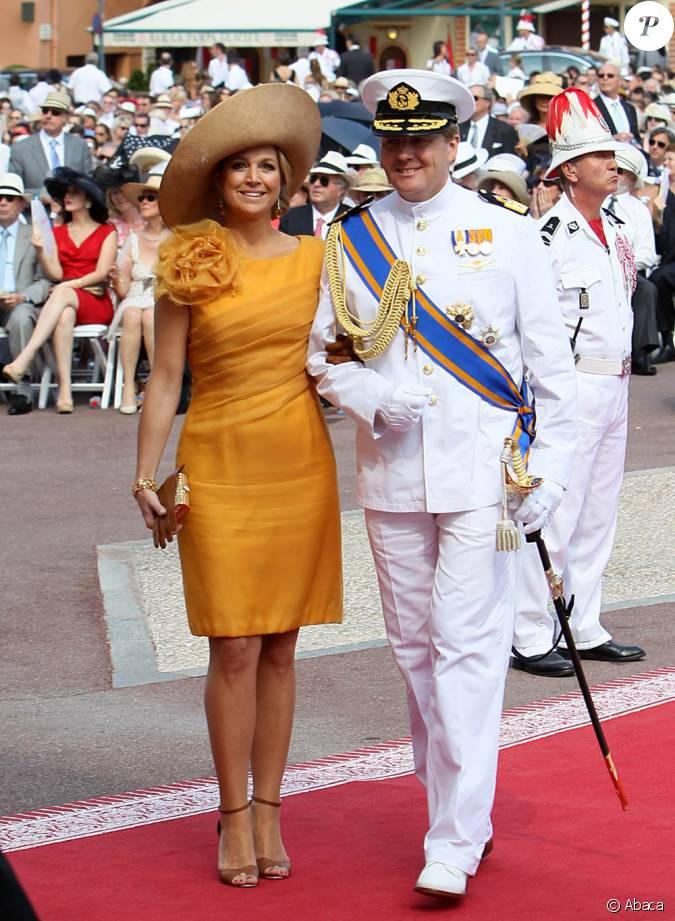 Toujours audacieuse la princesse maxima en robe jaune d for Code de robe de mariage de palais de justice
