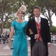 Mary et Frederik de Danemark sur le tapis rouge du Palais Princier de Monaco, pour le mariage religieux du prince Albert et de la princesse Charlene.  Le  prince Albert II de Monaco et Charlene Wittstock avaient convié près de  800 invités, dont beaucoup de têtes couronnées (les cours d'Europe  étaient notamment bien plus représentées qu'au mariage de William et  Kate), à leur mariage religieux, le 2 juillet 2011 en Principauté.