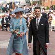 Le prince Alois de Liechtenstein et la princesse Sophie de Bavière sur le tapis rouge du Palais Princier de Monaco, pour le mariage religieux du prince Albert et de la princesse Charlene.  Le  prince Albert II de Monaco et Charlene Wittstock avaient convié près de  800 invités, dont beaucoup de têtes couronnées (les cours d'Europe  étaient notamment bien plus représentées qu'au mariage de William et  Kate), à leur mariage religieux, le 2 juillet 2011 en Principauté.
