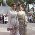La princesse Lalla Meryem, soeur du roi Mohammed VI, sur le tapis rouge du Palais Princier de Monaco, pour le mariage religieux du prince Albert et de la princesse Charlene.  Le  prince Albert II de Monaco et Charlene Wittstock avaient convié près de  800 invités, dont beaucoup de têtes couronnées (les cours d'Europe  étaient notamment bien plus représentées qu'au mariage de William et  Kate), à leur mariage religieux, le 2 juillet 2011 en Principauté.