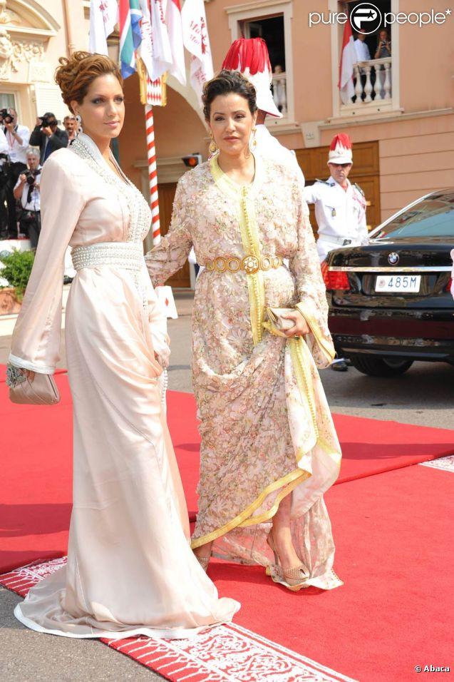 La princesse Lalla Meryem du Maroc sur le tapis rouge du Palais