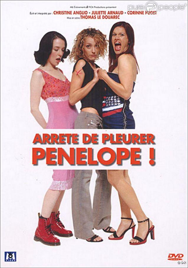 L'affiche de la pièce Arrête de pleurer Pénélope, jouée au théâtre par Juliette Arnaud, Christine Anglio et Corinne Puget.
