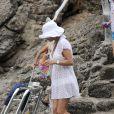Catherine Zeta-Jones en vacances et en famille à Majorque le 3 juillet 2011