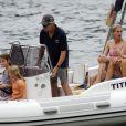 Michael Douglas et Catherine Zeta Jones en famille et en vacances à Majorque le 3 juillet 2011