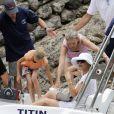 Michael Douglas et Catherine Zeta-Jones en vacances à Majorque le 3 juillet 2011