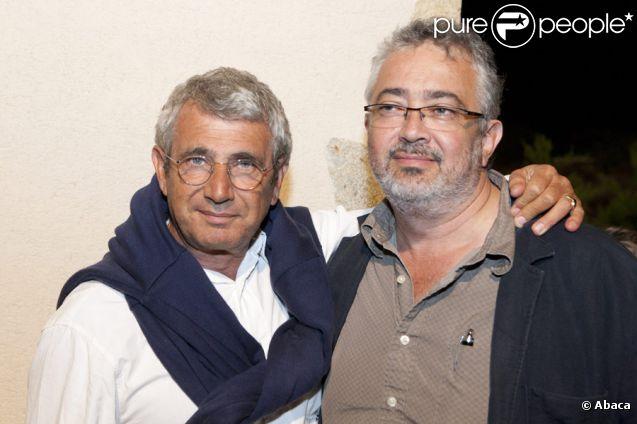 Michel Boujenah et son frère Paul Boujenah en 2010 à Ramatuelle