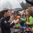 Le prince William et la duchesse Catherine de Cambridge en visite dans la province de l'Île du Prince Edward, au Canada, le 4 juillet 2011.