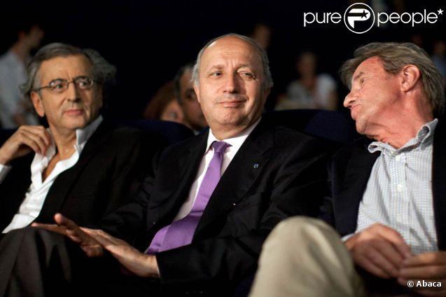 BHL, Laurent Fabius et Bernard Kouchner au grand meeting organisé pour une Syrie démocratique, le 4 juillet 2011.