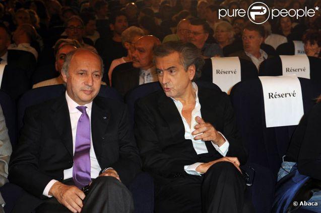 Laurent Fabius et BHL au grand meeting organisé pour une Syrie démocratique, le 4 juillet 2011.