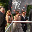 J.K. Rowling, Emma Watson et David Heyman lors de l'avant-première mondiale de Harry Potter et les Reliques de la mort - partie II le 7 juillet 2011 à Londres