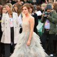 Emma Watson lors de l'avant-première mondiale de Harry Potter et les Reliques de la mort - partie II le 7 juillet 2011 à Londres