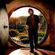 Peter Jackson dans les décors de  Bilbo Le Hobbit , à Wellington, en Nouvelle-Zélande, en mars 2011.