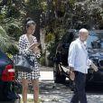Bruce Willis en compagnie de sa femme Emma Heming à Beverly Hills le 15 juillet 2011