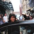 Anne Sinclair et son amie Daniel Frydman se rendent au MET, à New York, le 3 juillet 2011.