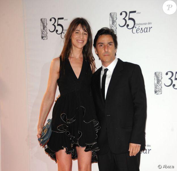 Charlotte Gainsbourg et Yvan Attal en février 2010.