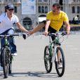 Oscar Pistorius, athlète sud-africain, handicapé, sur le vieux port de Trieste, en Italie le 10 juillet 2011