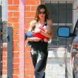 Miranda Kerr et son bébé Flynn ont partagé un déjeuner avec Orlando Bloom, heureux papa et fier époux comblé. Le 25 juillet 2011
