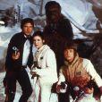 Han Solo, la princesse Leïa, Luke et Chewbacca dans Star Wards : L'Empire contre-attaque