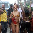 Rihanna lors du Kadooment Day, à la Barbade le 1er août 2011