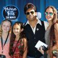Erik Estrada est venu avec ses enfants à la projection de Phineas and Ferb, à Los Angeles, le mercredi 3 août.