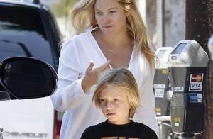 Kate Hudson : La jeune maman s'offre un doux moment avec ses hommes