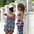 Rihanna en vacances à la Barbade le 8 août 2011