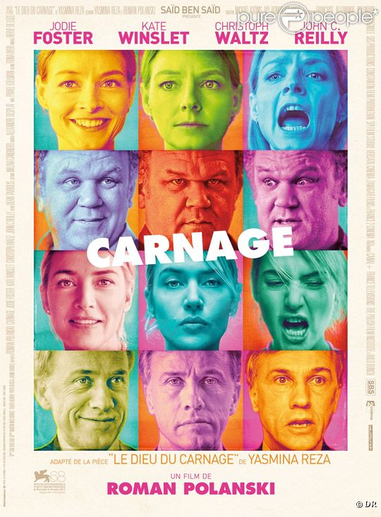 L'affiche du film Carnage de Roman Polanski