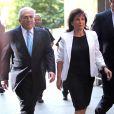 Dominique Strauss-Kahn et son épouse Anne Sinclair arrivant au tribunal le 1er juillet 2011