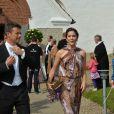 Mariage d'Anders Kirk Johansen, petit-fils du fondateur de LEGO, et d'Anja Buchwald, à Stouby, au Danemark, le 20 août 2011.