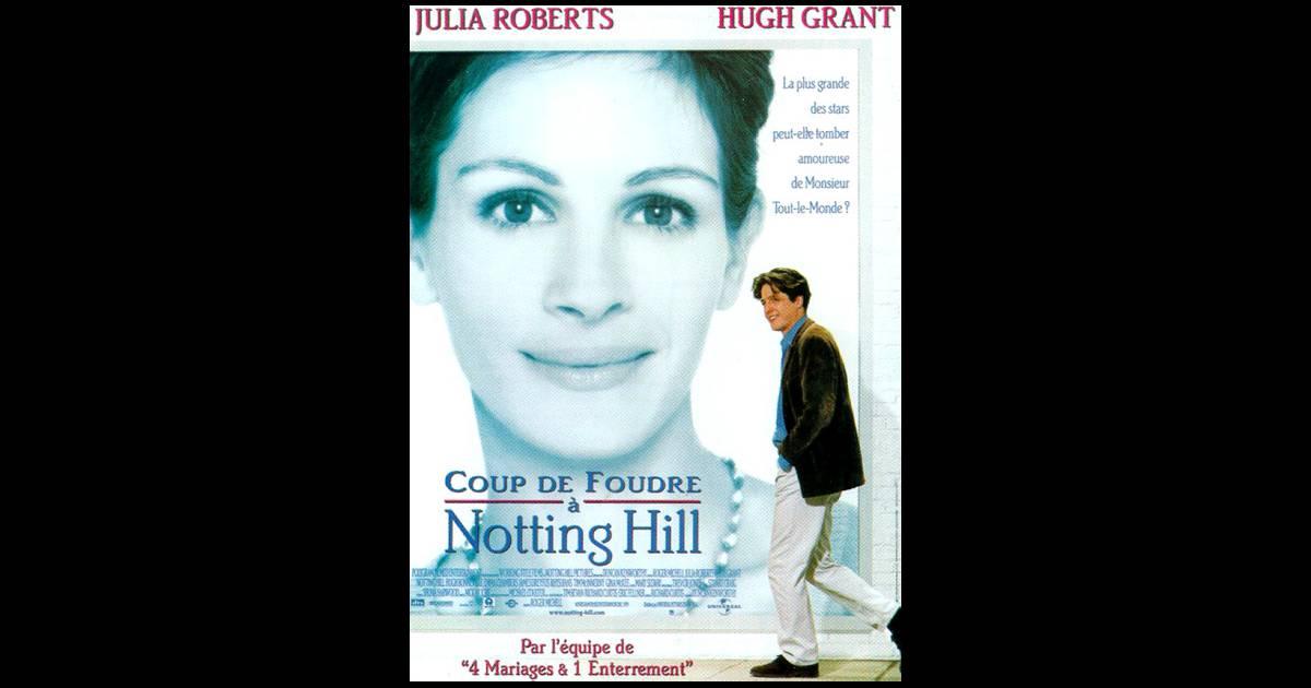 L 39 affiche du film coup de foudre notting hill 1999 - Julia roberts coup de foudre a notting hill ...