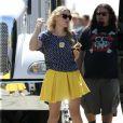 Busy Philipps sur le tournage de Cougar Town à Los Angeles. Août 2011