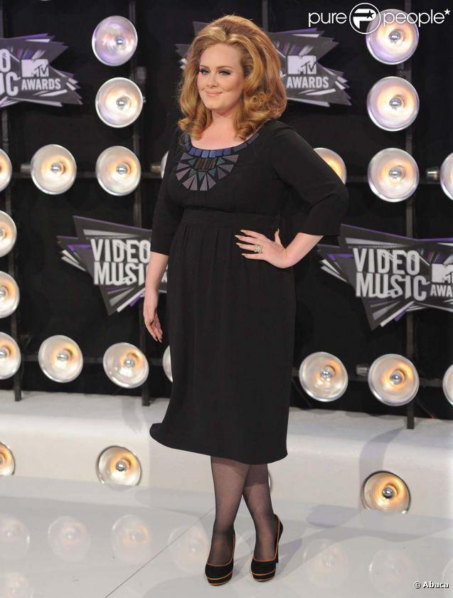 Adele aux MTV Video Music Awards, à Los Angeles, le 28 août 2011.