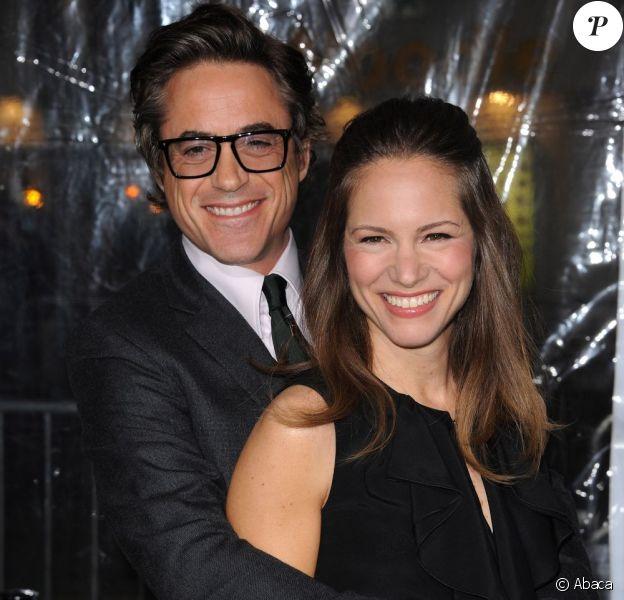 Robert Downey Jr. et sa femme Susan Levin en février 2011 en Californie