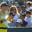 Jamie Hampton, victime d'un malaise lors du premier tour de l'US Open le 30 août 2011, a reçu les premiers soins des mains des soigneurs et de son adversaire Elena Baltacha.