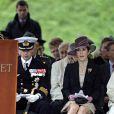 La famille royale danoise était rassemblée à la citadelle (Kastellet) de Copenhague, lundi 5 septembre 2011, pour un hommage aux soldats danois tombés au champ d'honneur en oeuvrant pour la paix au sine de l'ONU ou de l'OTAN.