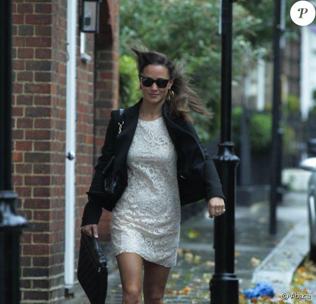 Pippa Middleton dans les rues de Londres le jour de son anniversaire, le 6 septembre 2011