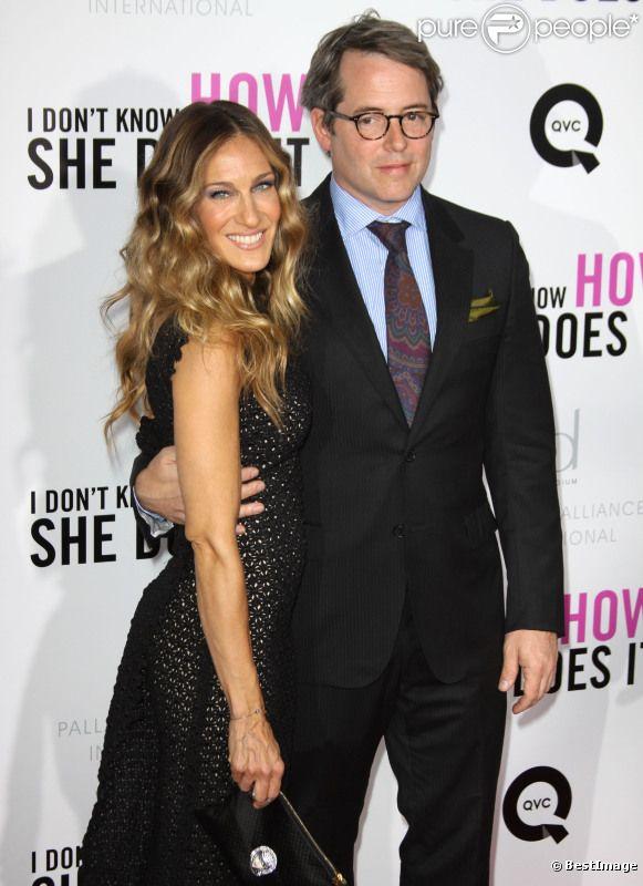 Sarah Jessica Parker et son mari Matthew Broderick lors de l'avant-première du film Mais comment font les femmes ? à New York le 12 septembre 2011