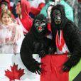 Les supporters canadiens avaient sorti les costumes de gorilles lors de la victoire française en Coupe du Monde de rugby face au Canada en Nouvelle-Zélande le 18 septembre 2011