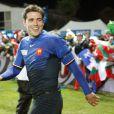 Dimitri Yachvili lors de la victoire française en Coupe du Monde de rugby face au Canada en Nouvelle-Zélande le 18 septembre 2011