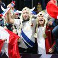 lors de la victoire française en Coupe du Monde de rugby face au Canada en Nouvelle-Zélande le 18 septembre 2011