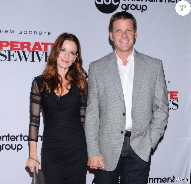 Laura Leighton et Doug Savant lors dela soirée de lancement de la dernière saison de Desperate Housewives organisée par Disney ABC Television à Los Angeles le 21 septembre 2011