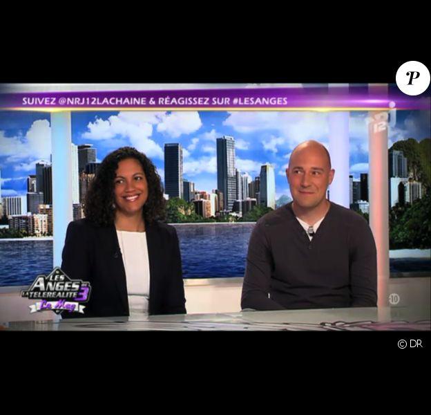 sur le plateau des Anges de la télé réalité 3, lundi 26 septembre sur NRJ 12